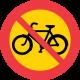C10 Förbud mot trafik med cykel och moped klass II