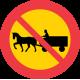 C12 Förbud mot trafik med fordon förspänt med dragdjur