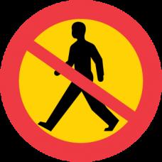 C15 Förbud mot gångtrafik