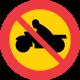 C5 Förbud mot trafik med motorcykel och moped klass I