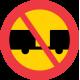 C6 Förbud mot trafik med motordrivet fordon med tillkopplad släpvagn