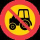 C8 Förbud mot trafik med traktor och motorredskap klass II