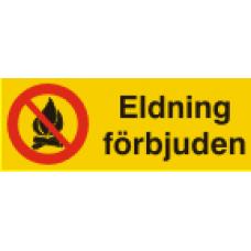 Eldning förbjuden