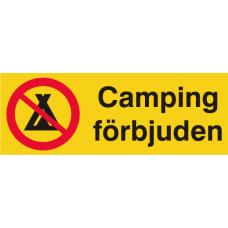 Camping förbjuden