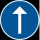 D1-3 Påbjuden körriktning - rakt fram