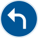 D1-4 Påbjuden körriktning - vänster