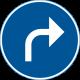 D1-5 Påbjuden körriktning - höger