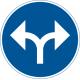 D1-8 Påbjuden körriktning - höger eller vänster