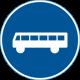 D10 Påbjudet körfält eller körbana för fordon i linjetrafik m.fl.