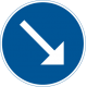 D2-1 Påbjuden körbana - höger