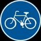 D4 Påbjuden cykelbana