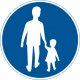 D5 Påbjuden gångbana