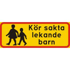 Kör sakta lekande barn