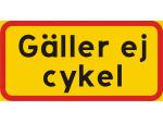 Cykel tillåten