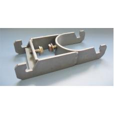 Dubbelklammer 60 mm för aluminiumprofil