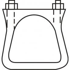 Gatunamnsklammer 90º 60 mm
