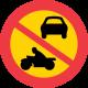 C3 - Plast - Förbud mot trafik med annat motordrivet fordon än moped klass II