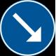 D2-1 - Plast - Påbjuden körbana - höger