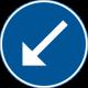 D2-2 - Plast - Påbjuden körbana - vänster