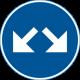D2-3 - Plast - Påbjuden körbana - höger eller vänster