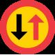 B6 Väjningsplikt mot mötande trafik
