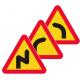 A1/A2 Varning för farliga kurvor - Klicka för fler alternativ!