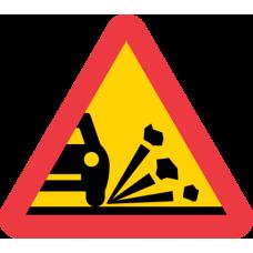 A11 Varning för stenskott