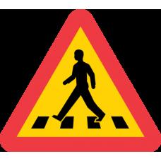 A13 Varning för övergångsställe