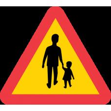 A14 Varning för gående