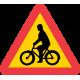 A16 Varning för cyklister och mopedförare
