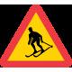 A17 Varning för skidåkare
