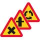 A28, A29, A30 Varning för vägkorsning eller cirkulationsplats - Klicka för fler alternativ!
